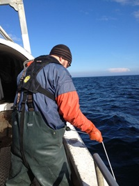 CTD-sampling in the Baltic Sea. Photo: Martin Karlsson.